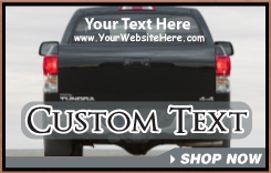 Custom Text Decals